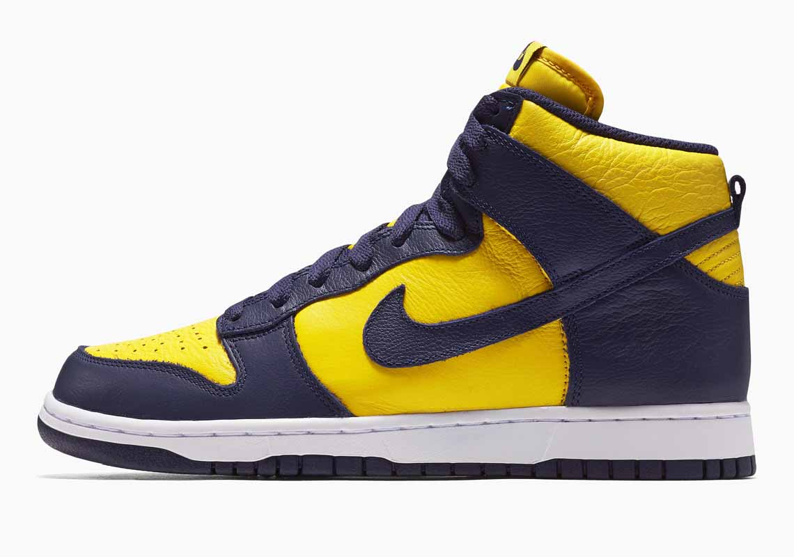 Nike SB Dunk High SP Michigan Men's and Women's Shoes